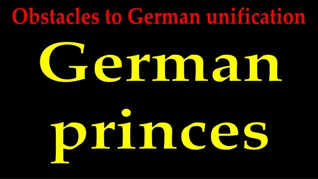 39 states There were 39 states in the German Bund – each of them had their own leader. A united Germany would only have on...