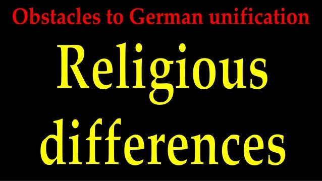 Obstacles to german unification   religion