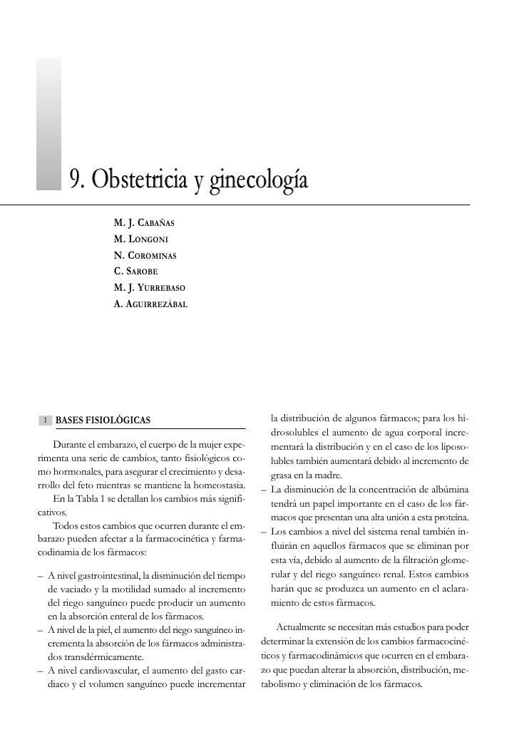 9. Obstetricia y ginecología                     M. J. CABAÑAS                     M. LONGONI                     N. COROM...