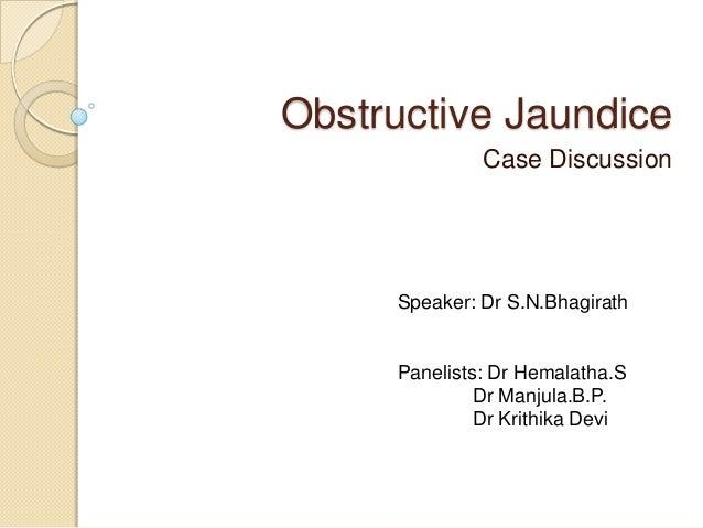 case study obstructive jaundice
