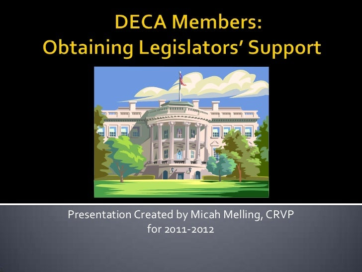 Presentation Created by Micah Melling, CRVP               for 2011-2012