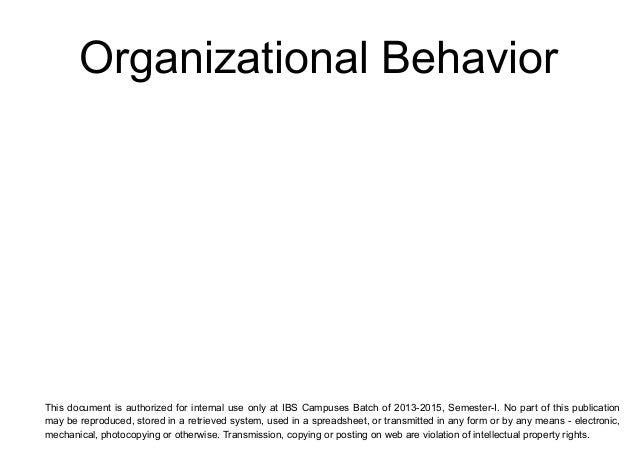organisational behaviour essays Organizational Behaviour