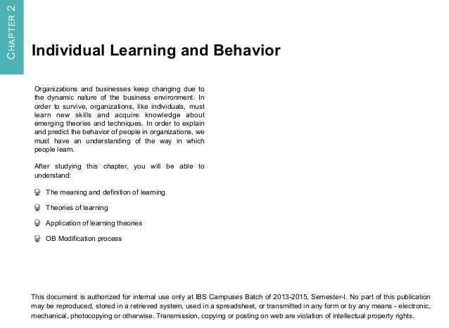 introduction to organisational behaviour essay Essay # 1 introduction to organisational behaviour: organisational behaviour is concerned with the understanding, prediction and control of human behaviour in organisations it focuses on the individuals, the groups, and the organisation and also on their interactional relationships.