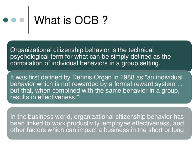 organisational citizenship behaviour thesis