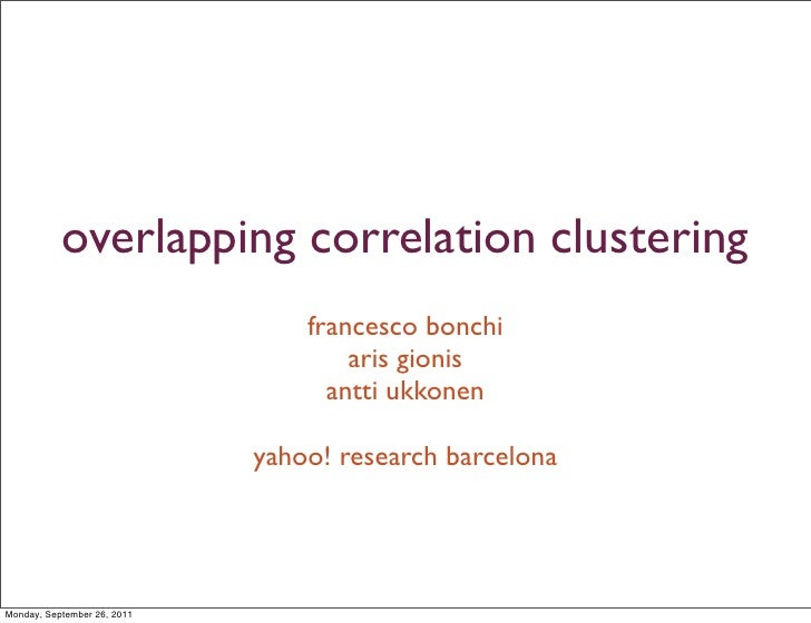 Overlapping correlation clustering