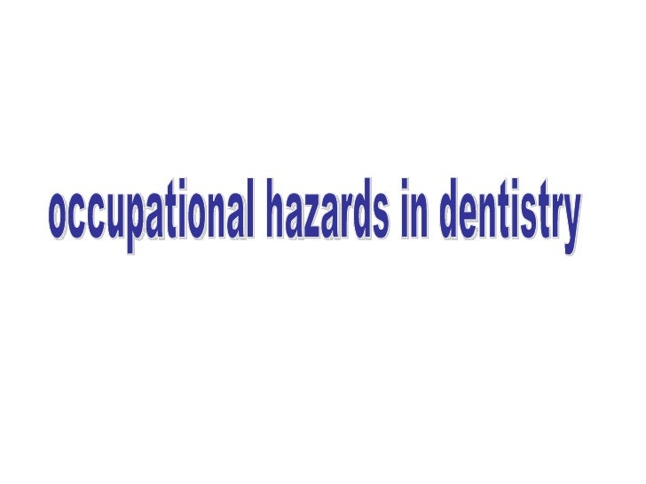 As in any other working environment, dental practice can beassociated with harmful effects to dentists, referred to asoccu...