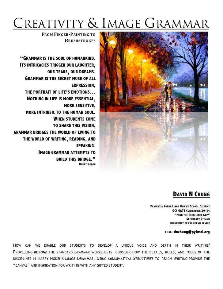"CREATIVITY & IMAGE GRAMMAR                   FROMFINGERPAINTINGTO                             BRUSHSTROKES       ""GRA..."