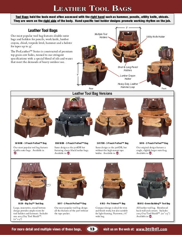 Leather Tool Tote Bags Leather Tool Bag Versions For