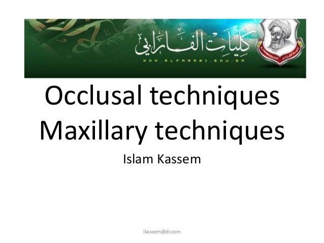 Occlusal max