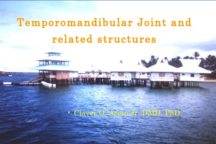 Temporomandibular Joint and     related structures       • Claver O. Acero Jr. DMD, PhD