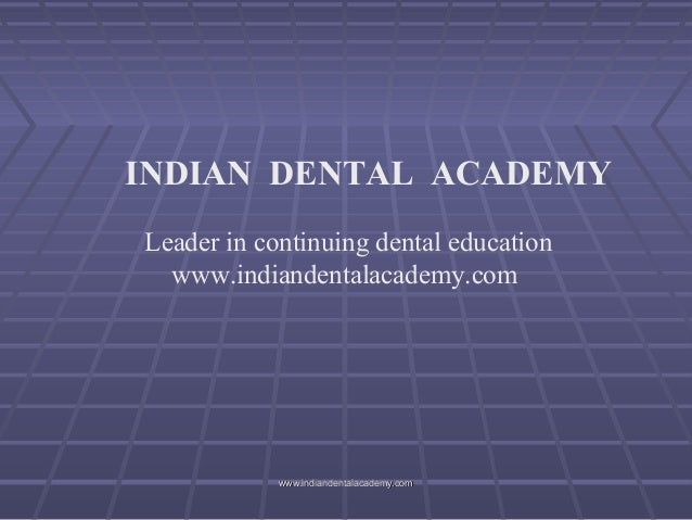 Occlusion 26 /certified fixed orthodontic courses by Indian dental academy