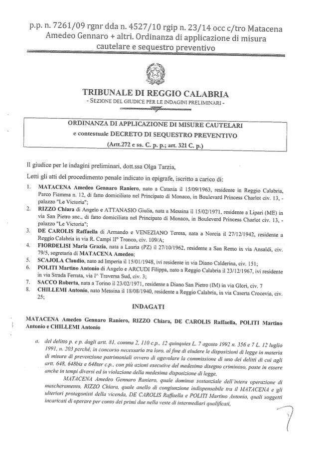 Ordinanza Scajola- Matacena