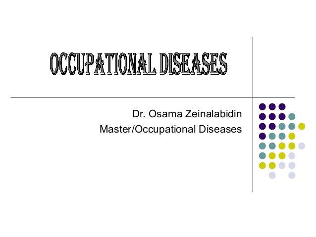 Dr. Osama Zeinalabidin Master/Occupational Diseases