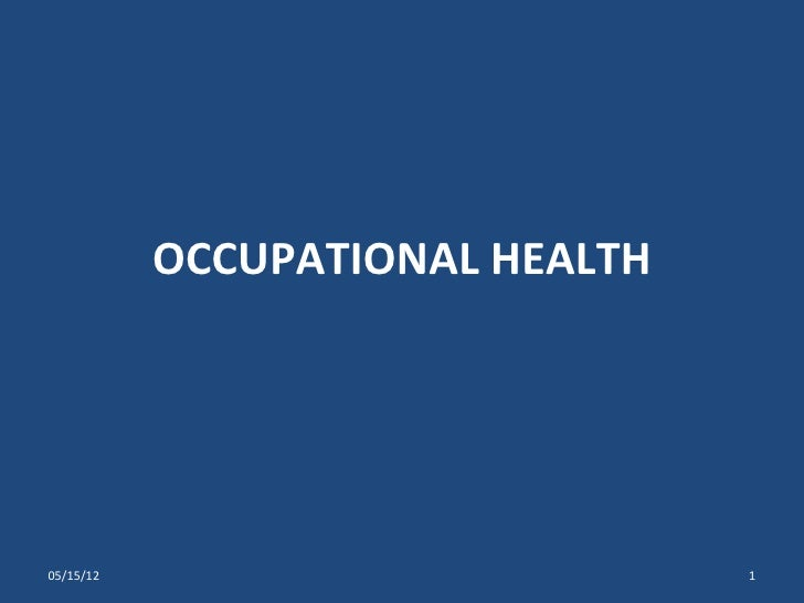 Occupational health ppt