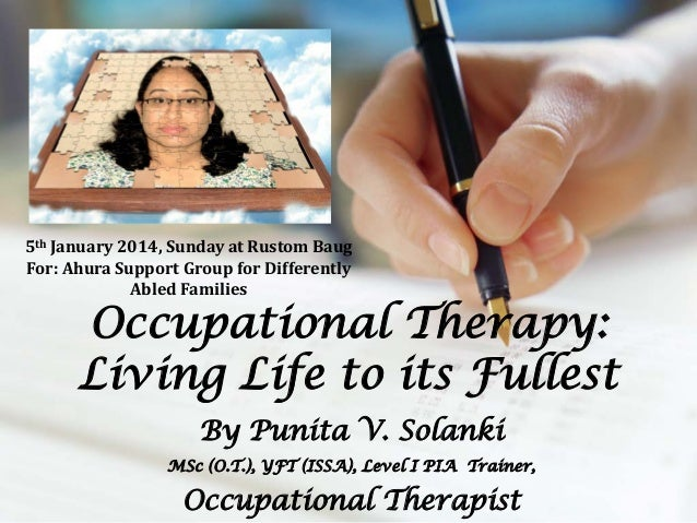 5th January 2014, Sunday at Rustom Baug For: Ahura Support Group for Differently Abled Families  Occupational Therapy: Liv...