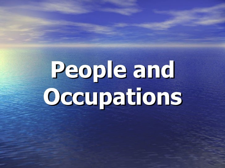 People and Occupations