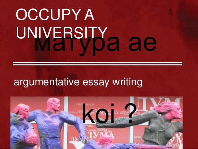 Writing And Argumentative Essay