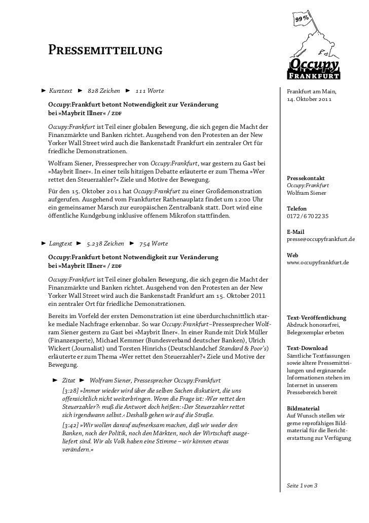 PressemitteilungKurztext       Zeichen         Worte                                        Frankfurt am Main,      ...