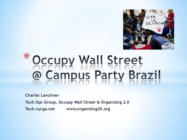 Occupy Wall Street at Campus Party Brazil