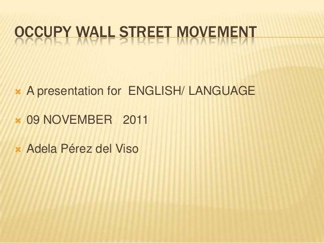 Occupy Wall Street.
