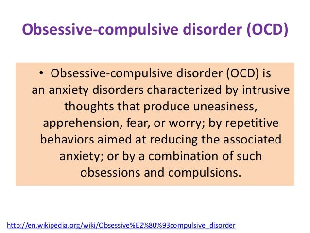 obsessive compulsive eating disorder essay Obsessive–compulsive disorder (ocd) is a mental disorder where people feel the need to check things repeatedly, perform certain routines repeatedly (called rituals), or have certain.