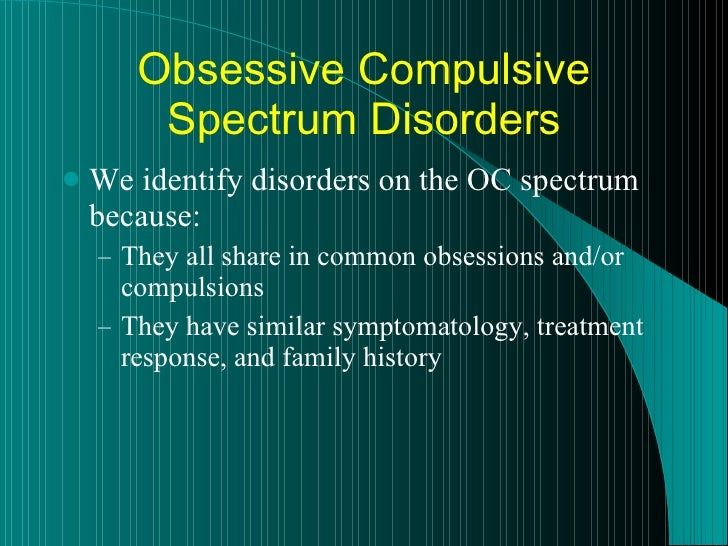 Obsessive-Compulsive Disorder and Addiction: