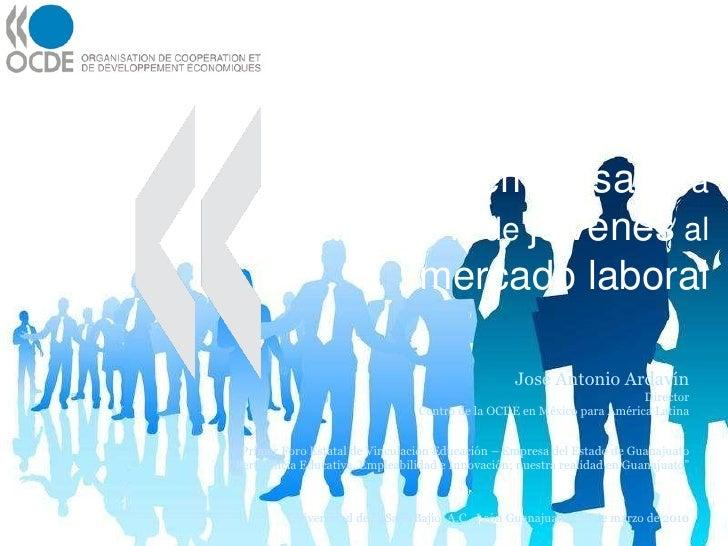 Vinculación  educación - empresa  para la  transición  de  jóvenes  al  mercado laboral José Antonio Ardavín Director Cent...