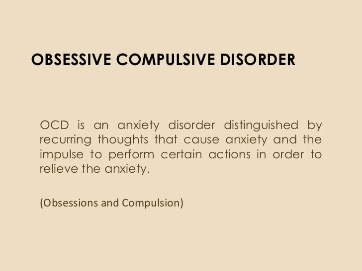 an overview of obsessive compulsive disorder ocd Essential information on obsessive-compulsive disorder (ocd), the various types, causes, signs, symptoms, diagnosis, and an overview of treatment options.