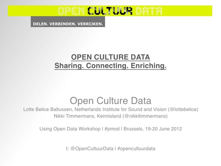 OPEN CULTURE DATA