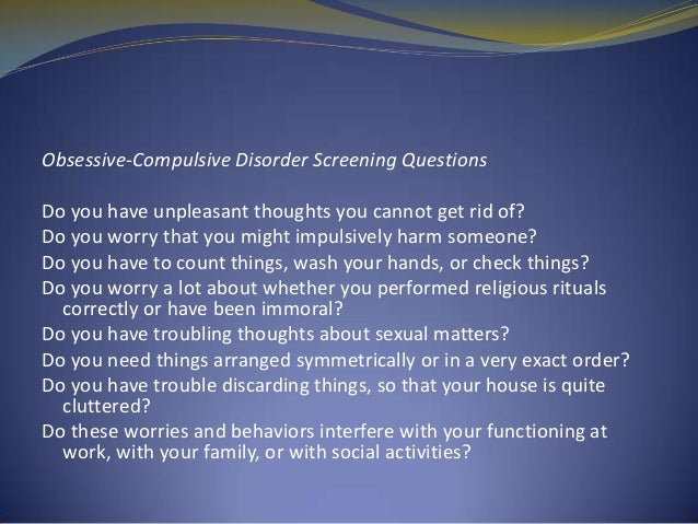A case study of obsessive-compulsive disorder some diagnostic considerations