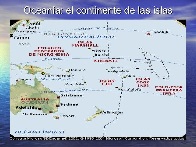 Ocean a el continente de las islas - Continente y contenido ...