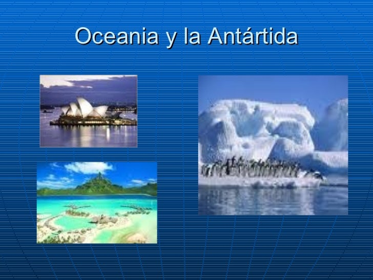 Oceania y la Antártida