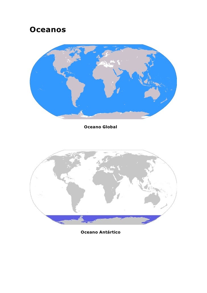 Oceanos                Oceano Global               Oceano Antártico