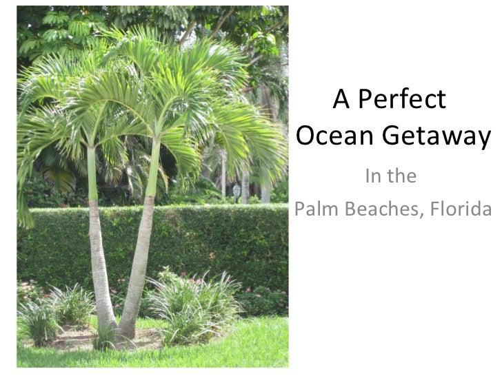 In the  Palm Beaches, Florida A Perfect  Ocean Getaway