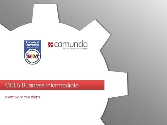 OCEB Business Intermediate exemplary questions