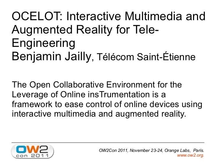 Ocelot Project, OW2con11, Nov 24-25, Paris