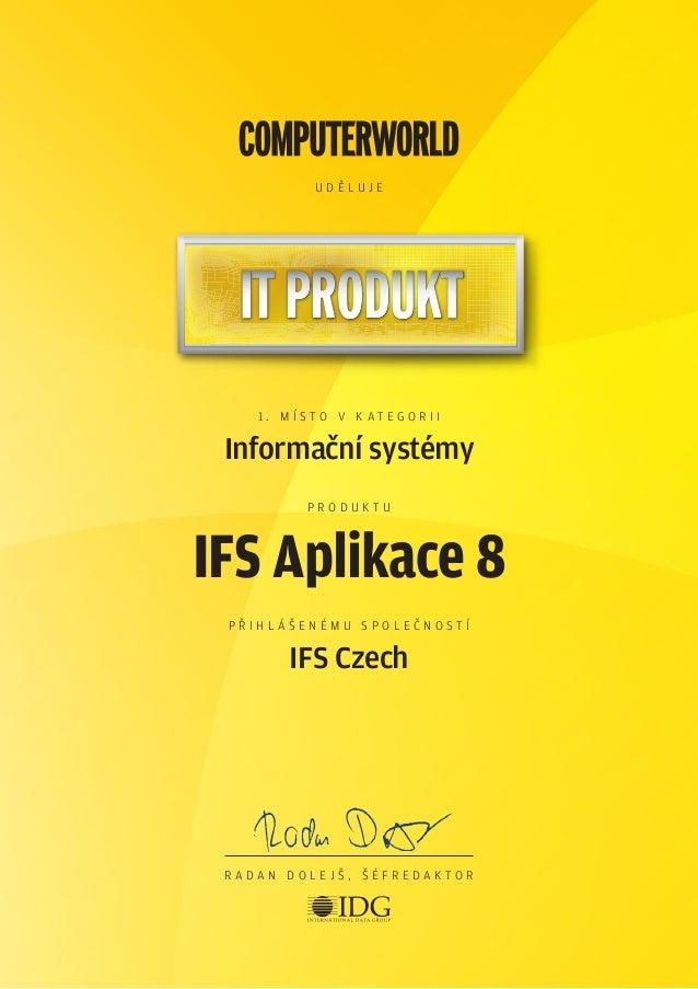 Ocenění IDG Computerword 2013