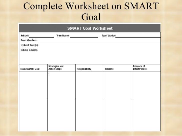 Smart Goal Worksheet For Students – Smart Goals Worksheet for Students
