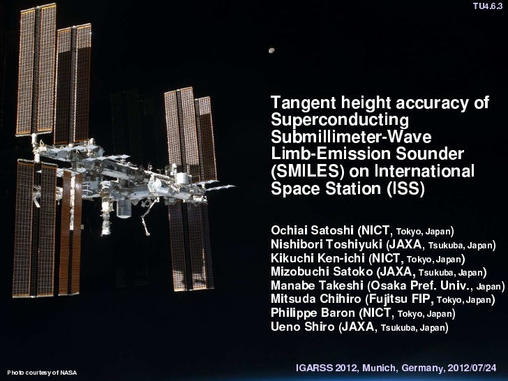Tangent height accuracy of Superconducting Submillimeter-Wave Limb-Emission Sounder (SMILES) on International Space Station (ISS)