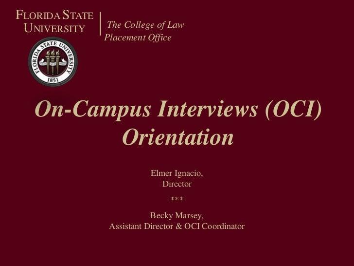 Oci orientation powerpoint_spring2011