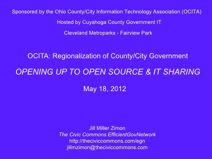Sponsored by the Ohio County/City Information Technology Association (OCITA)                  Hosted by Cuyahoga County Go...