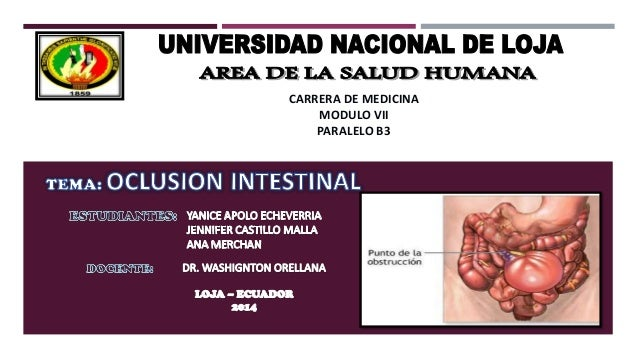 Oclusion intestinal cirugia
