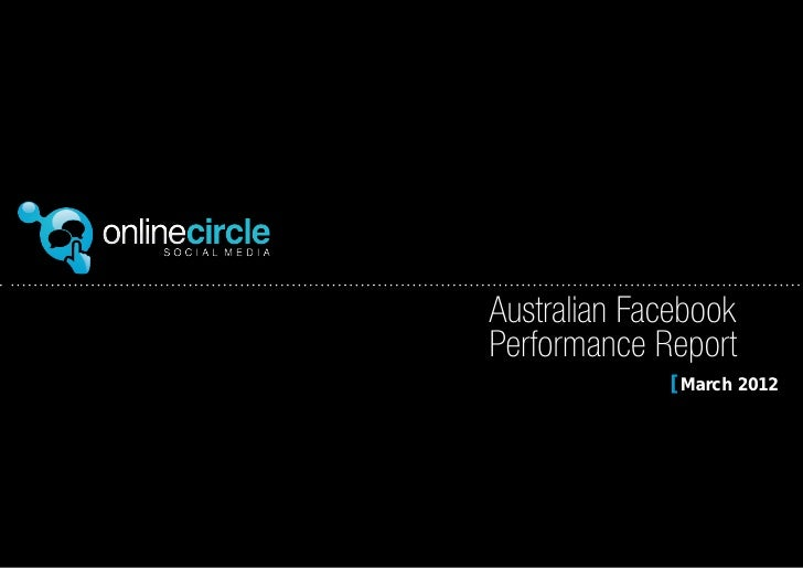 Australian Facebook   Performance Report[ March 2012