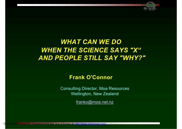 O'Connor  Psychology and sustainability ~ NZPsS 2010