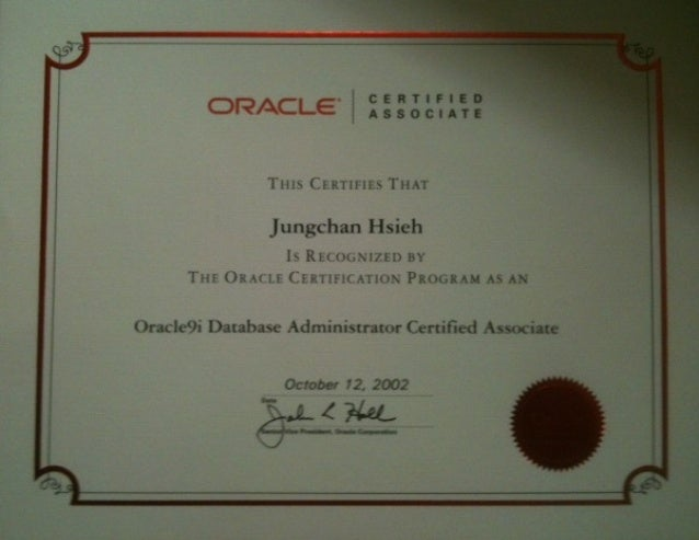 Oracle9i Database Administrator Certified Associate