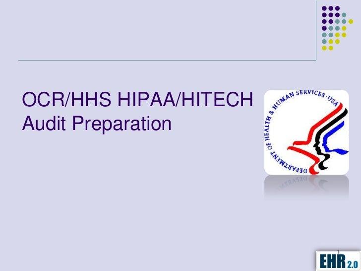 OCR-HHS HIPAA/HITECH Audit Preparation