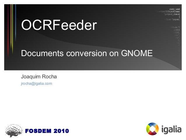 OCRFeeder (FOSDEM 2010)