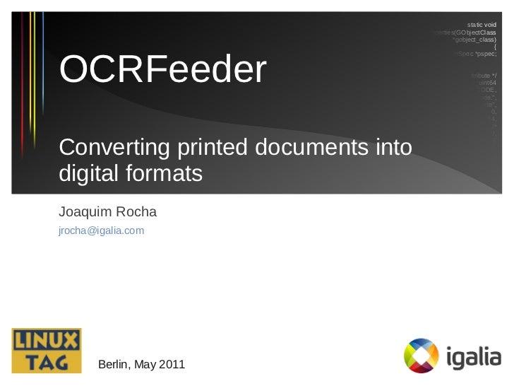 OCRFeeder LinuxTag 2011