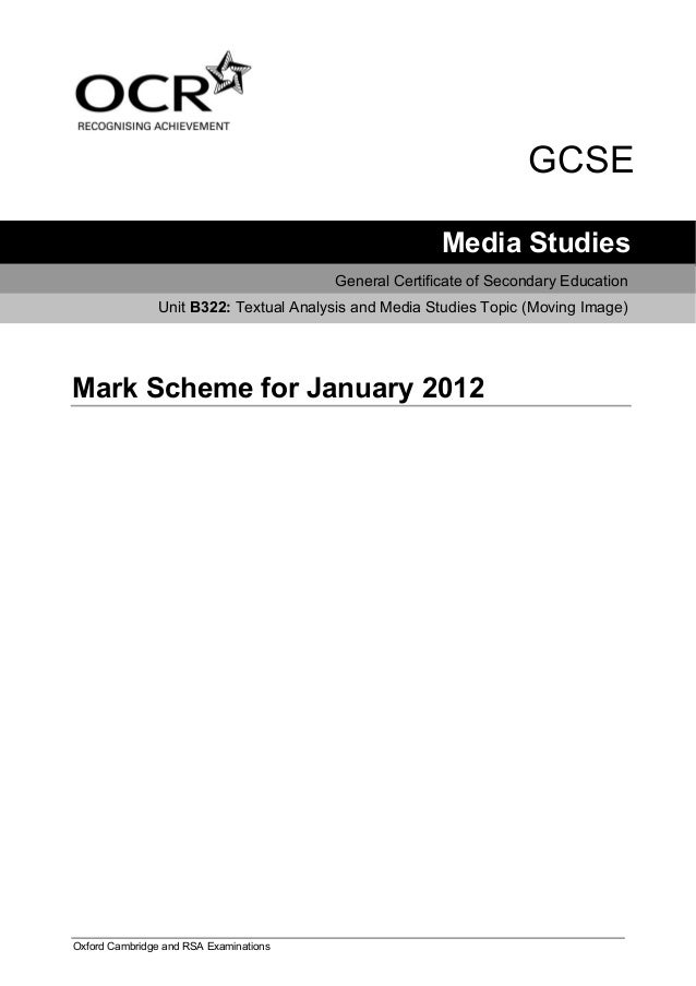 ocr english literature coursework mark scheme