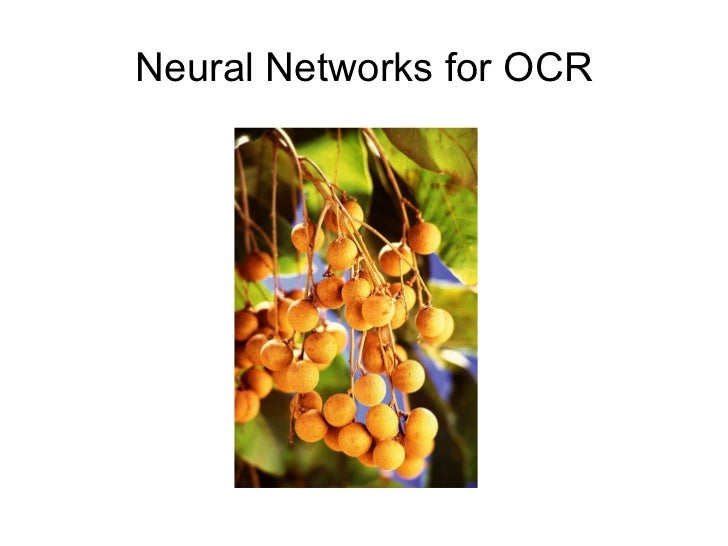Neural Networks for OCR